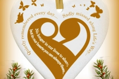 porcelain gold heart ornament gold