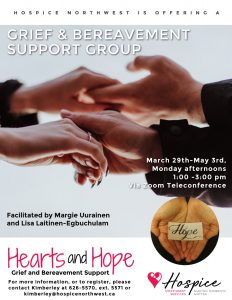 Hearts and Hope General Grief Support Group, June 8 - July 13, 2021 @ Zoom Teleconference