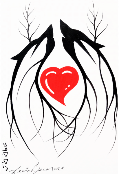 Gashkendamide'e (Be Grieved from the Heart) Grief Support Group for Indigenous Peoples Logo